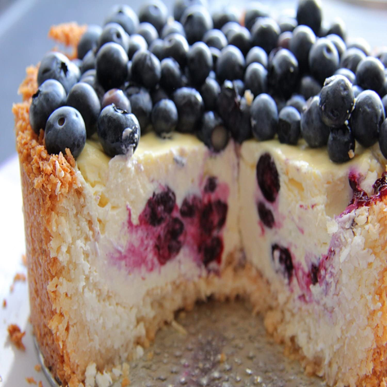 BLUEBERRY CHEESECAKE FRAGRANCE OIL - 4 OZ - FOR CANDLE & SOAP MAKING BY VIRGINIA CANDLE SUPPLY - FREE S&H IN USA