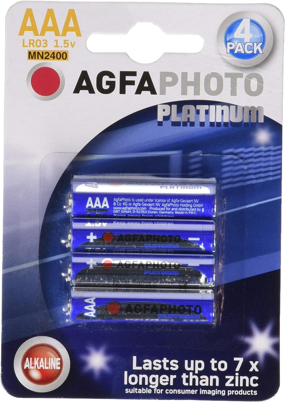AgfaPhoto 59866, Pilas Alkaline Universal LR03/AAA,1.5v, Pack de 4: Amazon.es: Salud y cuidado personal