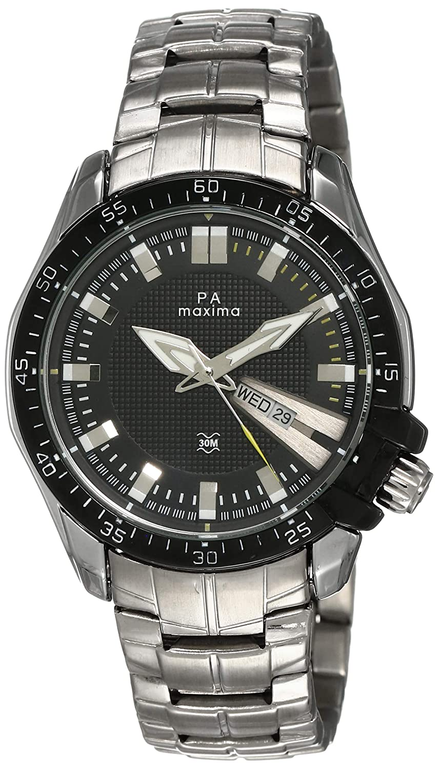 Maxima Attivo Day-Date Black Dial Best Mens Watches Under 5000 in India to buy in 2019 - Reviews & Buyers Guide