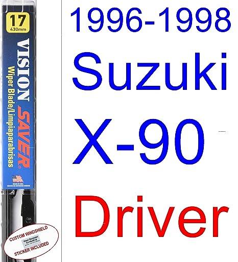 Amazon.com: 1996-1998 Suzuki X-90 Wiper Blade (Driver) (Saver Automotive Products-Vision Saver) (1997): Automotive