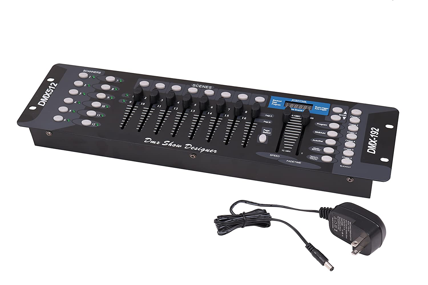 192 Channels DMX512 Controller Console For Stage Light Party DJ Laser Operator Black ECLVTech DMX512-192