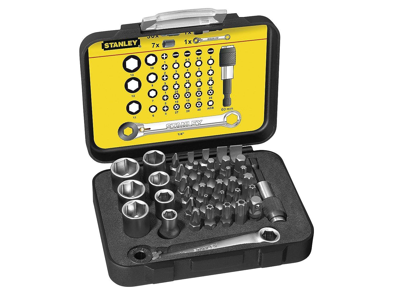 Stanley Outils 39Pc FM Bit + Skt Set + Clé à cliquet (simple) Stanley outillage - Tools - FR 1-13-907