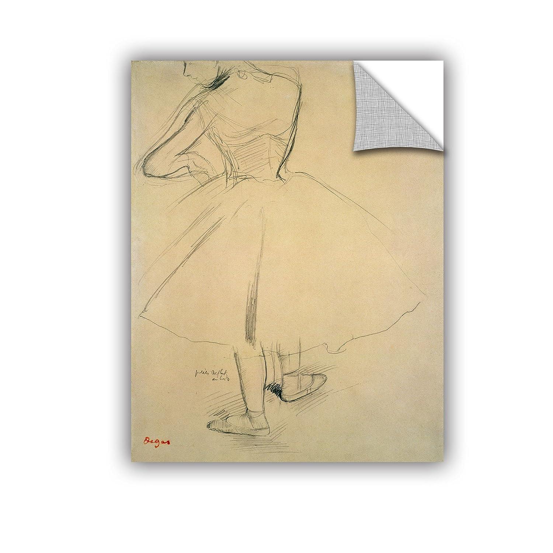 ArtWall Edgar Degass Ballet Dancer from Behind Art Appeelz Removable Wall Art Graphic 14 x 18
