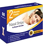 Stop Snoring Nose Strips Medium - Snoring Cure (60 Strips) by Sleepeze Remedies® - These PREMIUM QUALITY Nose Strips are Suitable for Sleep Relief And Insomnia Treatment - Snore Stopper Care For You