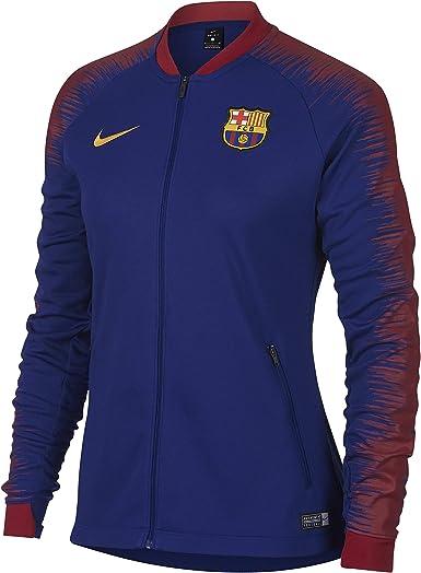 Acera rebanada vendaje  NIKE FC Barcelona Anthem Chaqueta de Entrenamiento: Amazon.es: Ropa y  accesorios