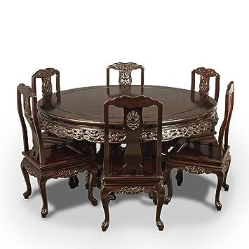 London Fine Antiques Tradicional Oriental Palisandro Mesa De Comedor