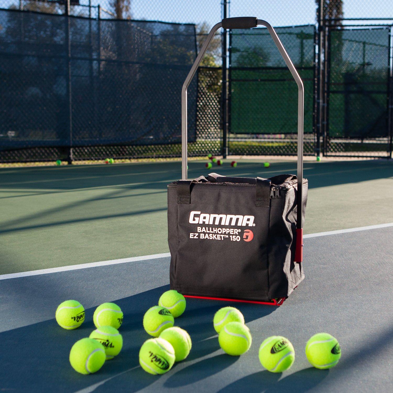 fa7387198c Gamma Ballhopper Premium EZ Tennis Ball Basket 150 - Unique Open Bottom  Design