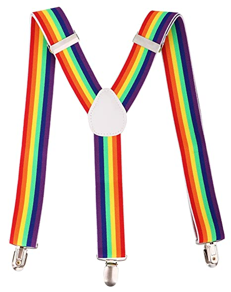 Men's Vintage Style Suspenders Livingston Unisex Vintage-Style Clip-On Adjustable Full Elastic Suspenders for Pants Skirts Shorts $9.99 AT vintagedancer.com