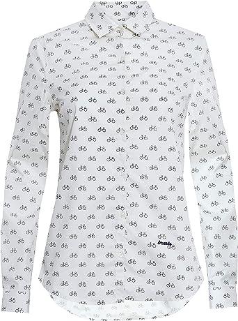 Brava Fabrics | Blusa para Mujer | Camisa Morada Estampada para Mujer | Modelo Hot Chili | Talla XL: Amazon.es: Ropa y accesorios