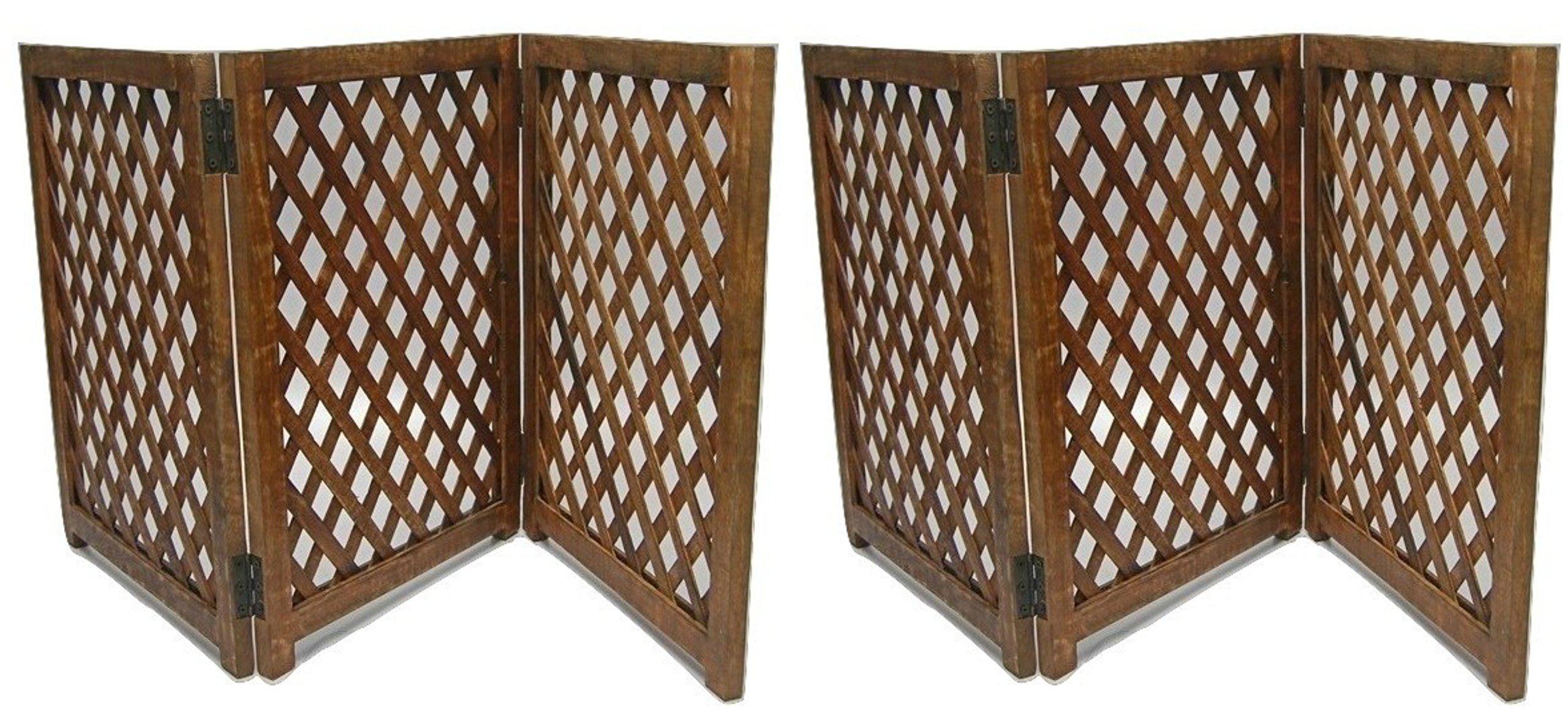 Urnporium Mango Wood 3 Panel Strong and Durable Pet Gates, Set of 2 by Urnporium