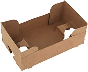 MT Products 4 Corner Pop-Up Paperboard Food and Drink J-Type Tray Perfect for Holding Food and Liquids in One Place at Stadium or Theater (25 Pieces)