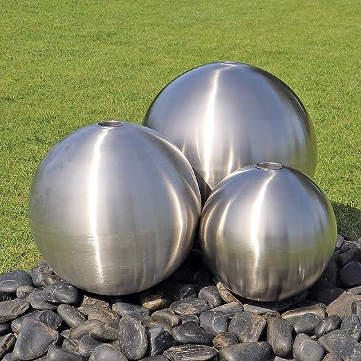 CLGarden Juego de 3 fuentes de acero inoxidable pulido ...