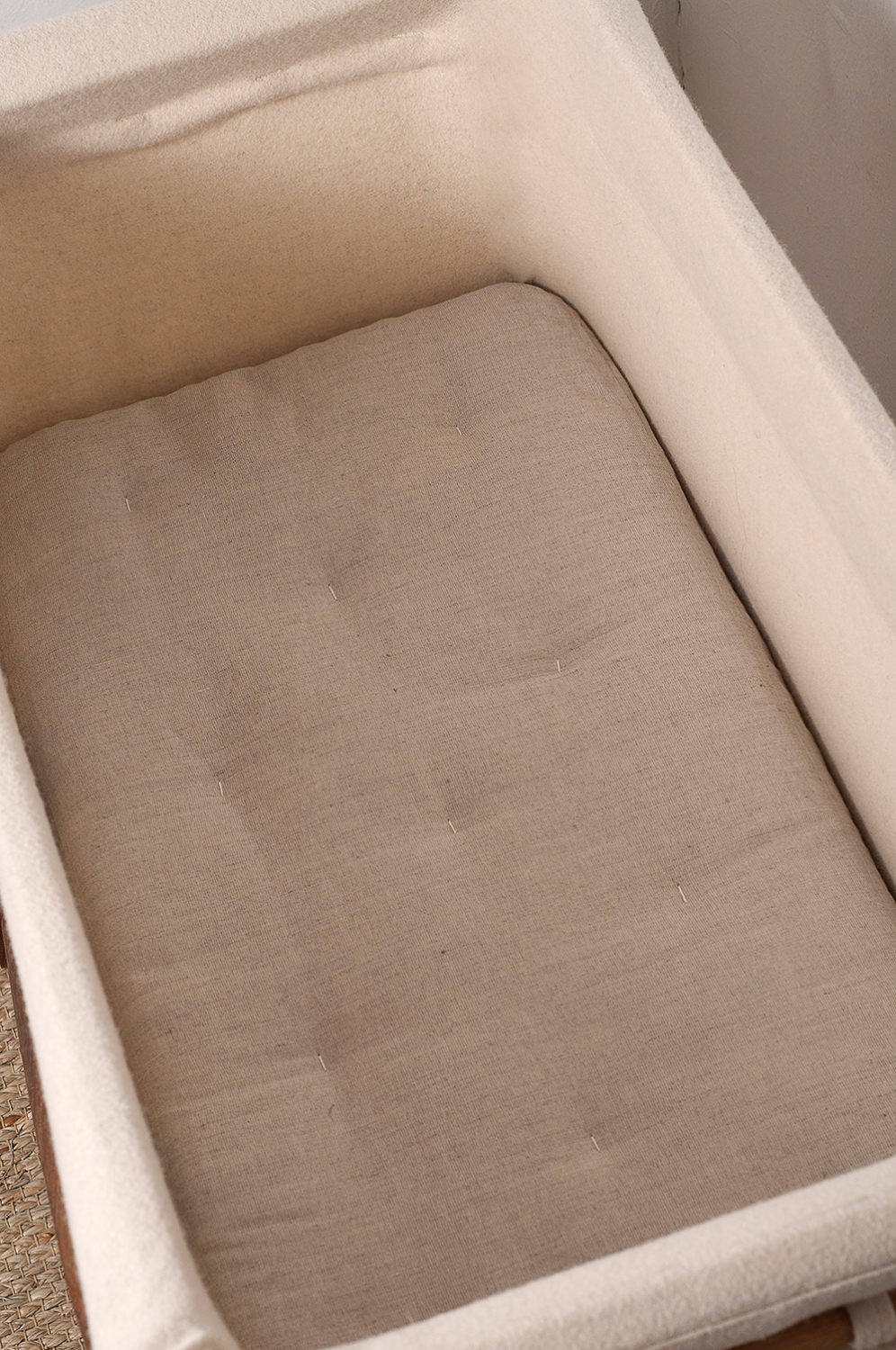 Home of Wool Mini Junior or Bed Size Crib Wool-Filled Mattress Bed 100/% Cotton