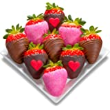 Golden State Fruit 9 Piece Love Bites Chocolate Covered Strawberries