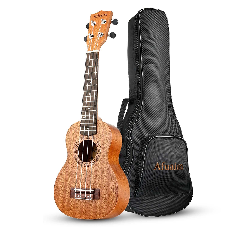 afuaim soprano ukulele 21 inch mahogany uke aum 21m