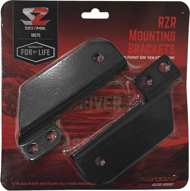 Seizmik 18070 Pursuit Mirror Mounts extension brackets for RZR 900s/ 1000
