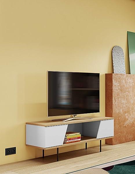 Temahome Dixie Mesa para televisor, Chipboard y MDF con pies metálicos, 140 x40 x51 cm (LxBxH): Amazon.es: Hogar