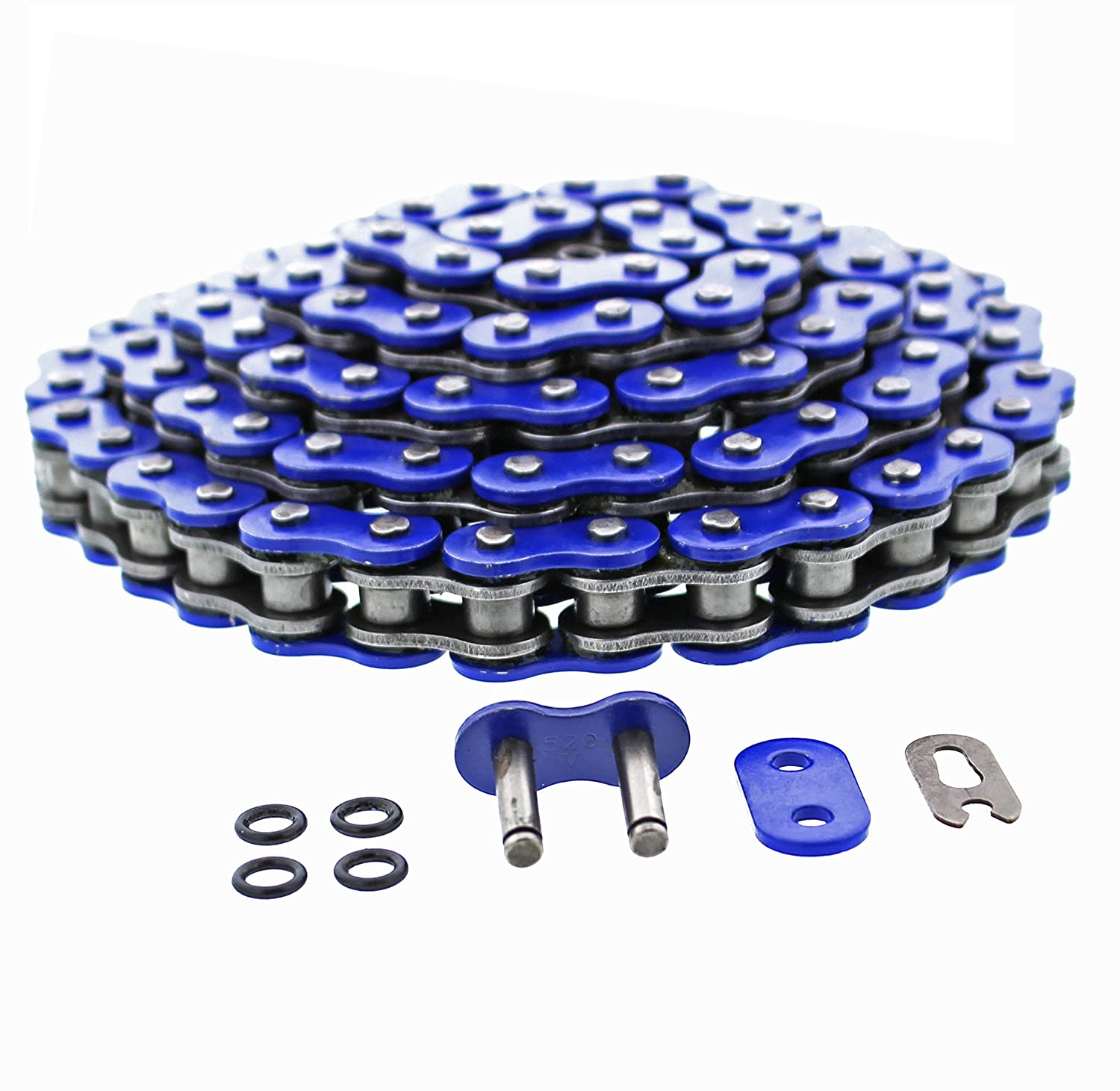 Masterlinks Blue O-Ring Chain 520-OB pack of 3 by Race-Driven