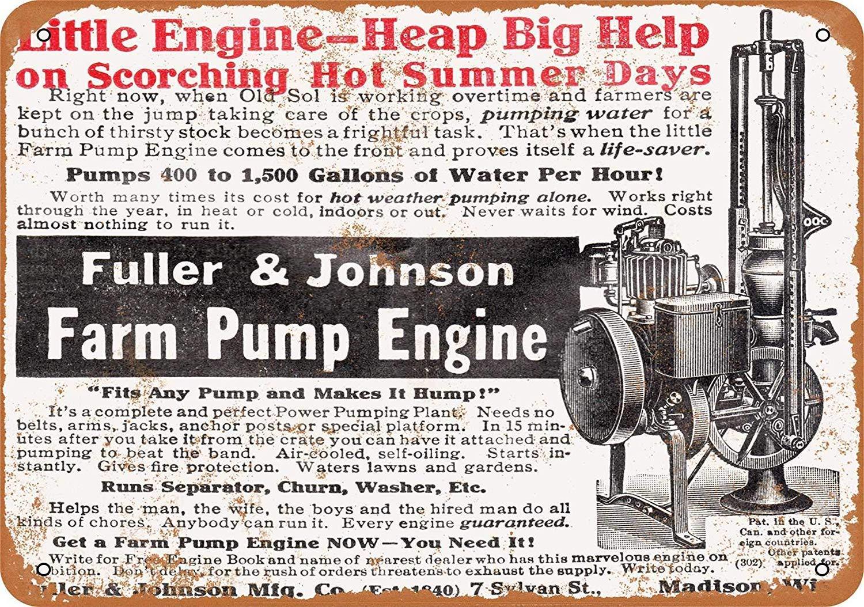 Kia Haop 1911 Fuller Johnson Farm Pump Engine Metal Fender ...