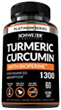 Turmeric Curcumin with Bioperine. Highest Quality Anti-inflammatory Supplement with Black Pepper. Pain Relief & Joint Support with 95% Standardized Curcuminoids. Non-GMO, Gluten Free Turmeric Capsules