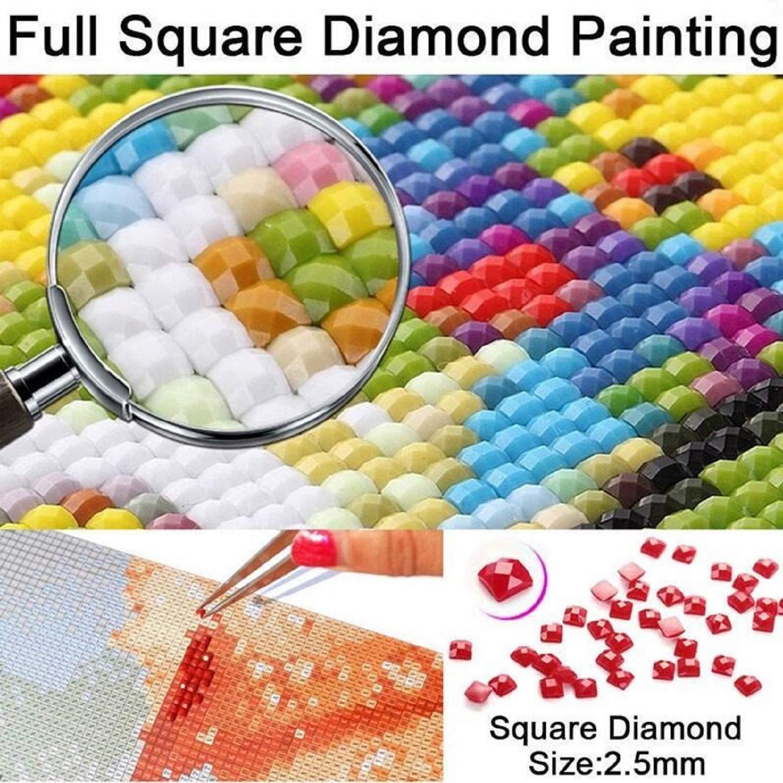 5D DIY Diamond Painting New Super Mario Bros Cross Stitch Kit Full Square/Round Drill Princess Diamond Cartoon Painting 30cm X 40cm
