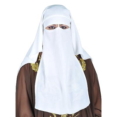 Egypt Bazar - Pañuelo para la cabeza - para mujer blanco blanco: Ropa y accesorios