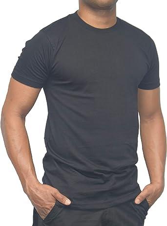 DBlade Mens T-Shirt Black Short Sleeve Top 100/% Cotton Comfortable Work Wear