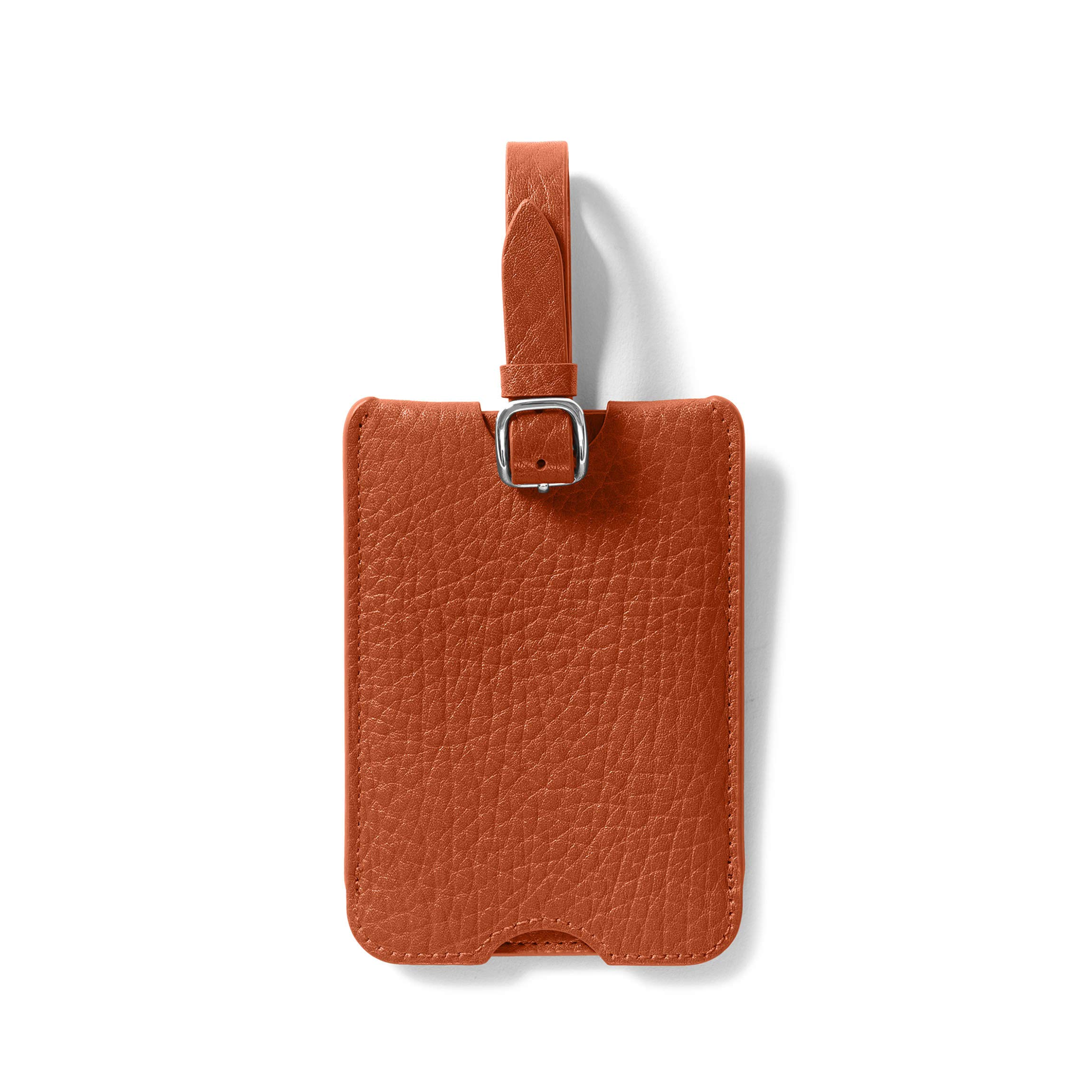 Deluxe Luggage Tag - Italian Leather - Whiskey (brown)