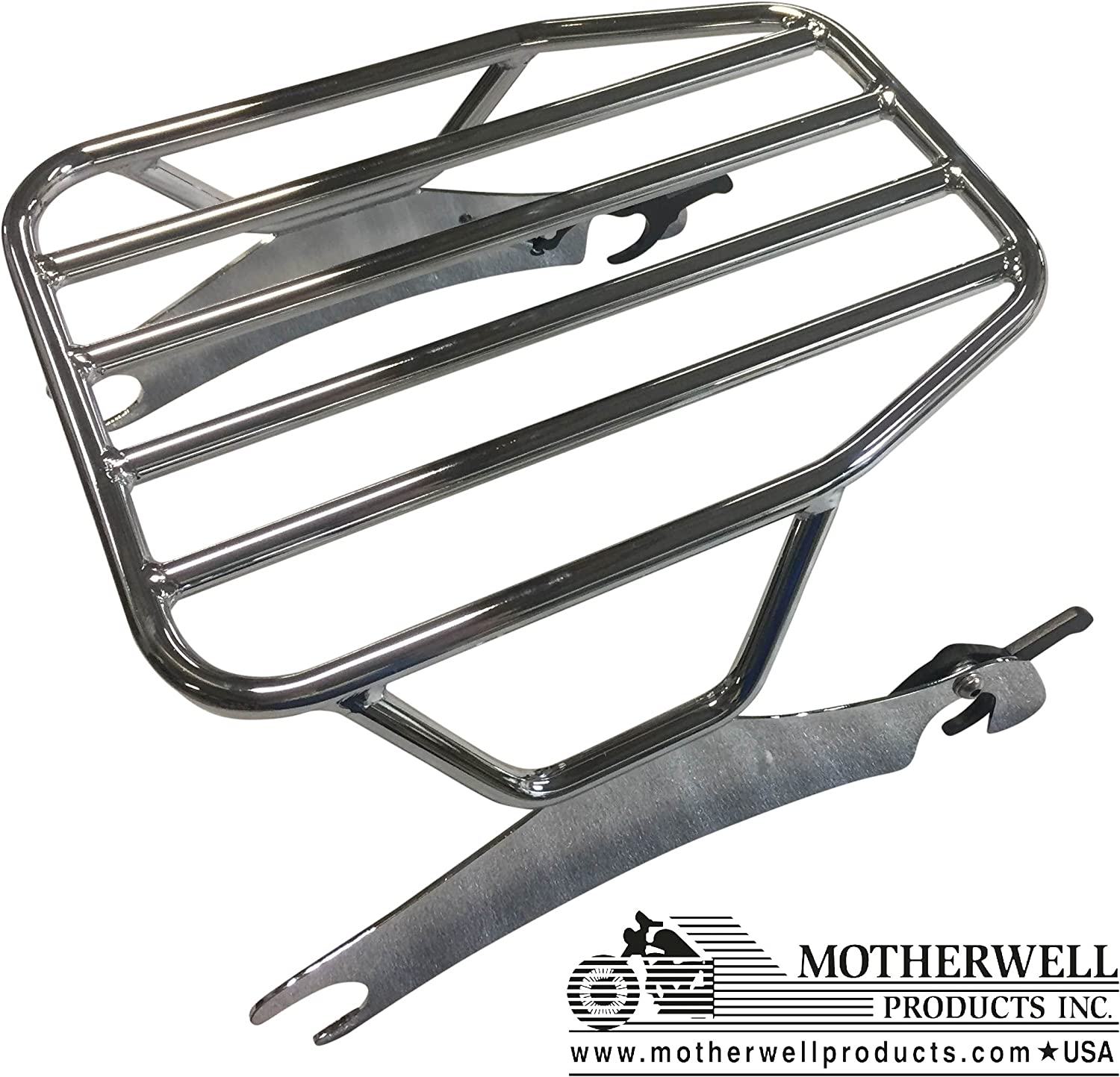 Chrome Springfield FLAT Solo Detachable Rack 2014-UP Indian Chieftain Roadmaster