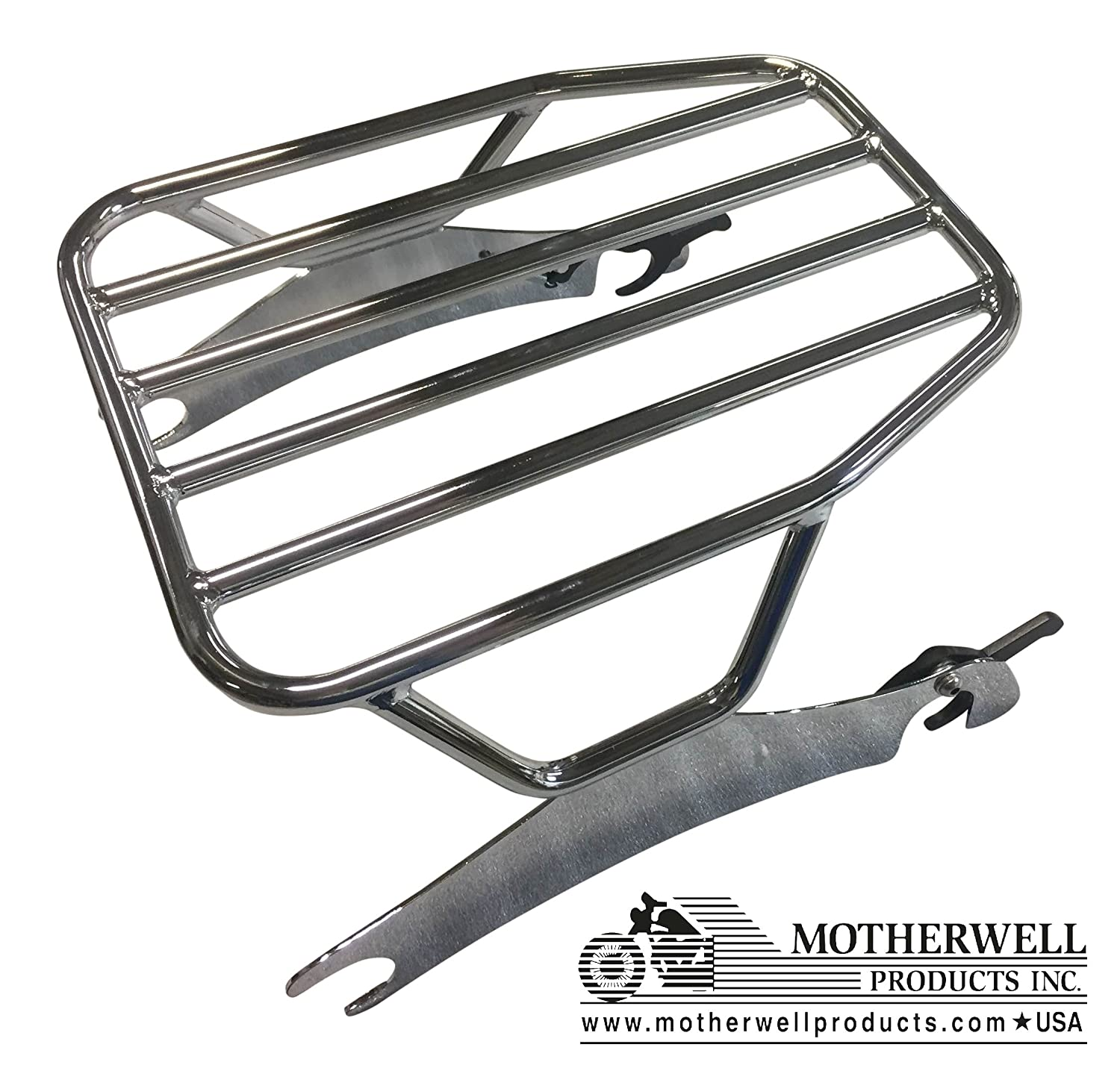 Chrome Indian Chieftain Springfield FLAT Solo Detachable Rack 2014-UP Roadmaster