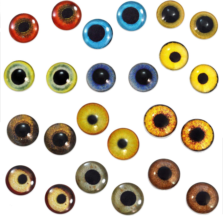 Large Glass Doll Eyes Realistic Taxidermy Craft Eyeballs 38mm
