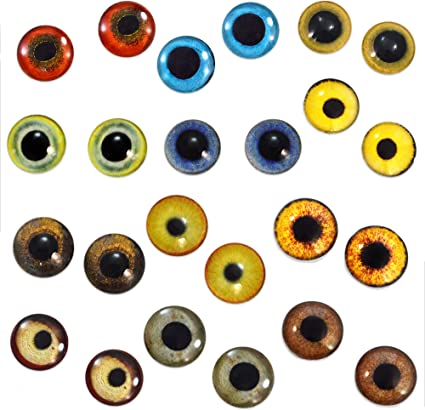 6mm Orange Dinosaur Glass Eyes Cabochons for Jewelry Clay Sculpture Art Dolls