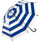 パール金属 ビニール 傘 ボーダー ブルー ファッション ワコートレーディング N-8494