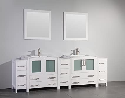 amazon com vanity art 96 inch single sink bathroom vanity set rh amazon com 96 inch bathroom vanity with makeup area 96 inch bathroom vanity home depot