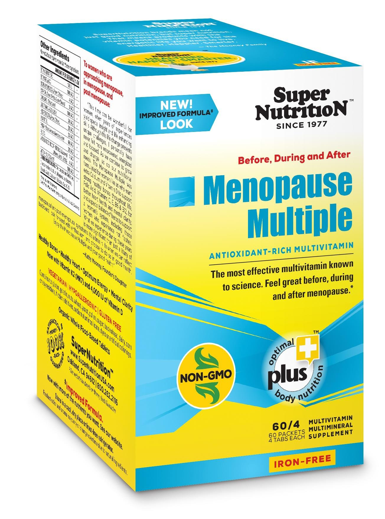 Supernutrition Menopause Multiple Iron Free Multivitamin