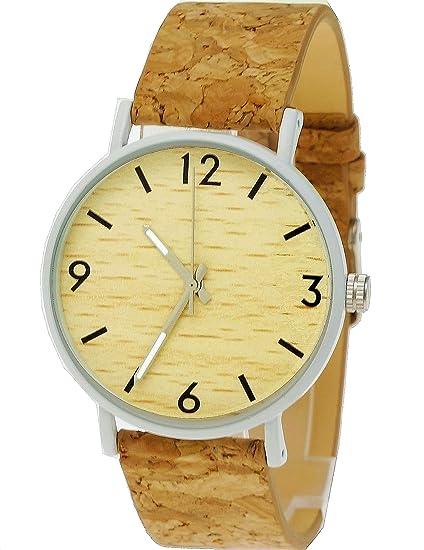 Hecha a mano planas madera de Alemania® – Reloj unisex Reloj de hombre de mujer