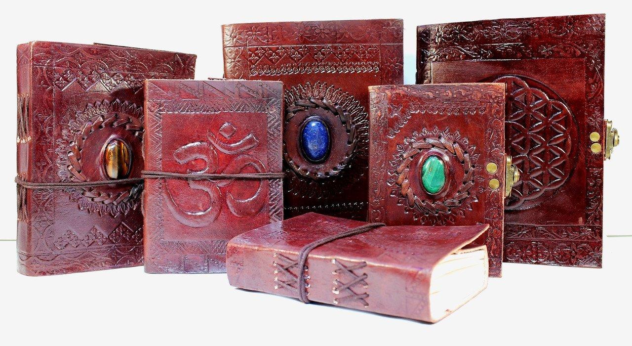 Papier premium bloc notes Double Dragon livre Kooly Zen journal vintage Carnet 13cm X 17cm cuir v/éritable