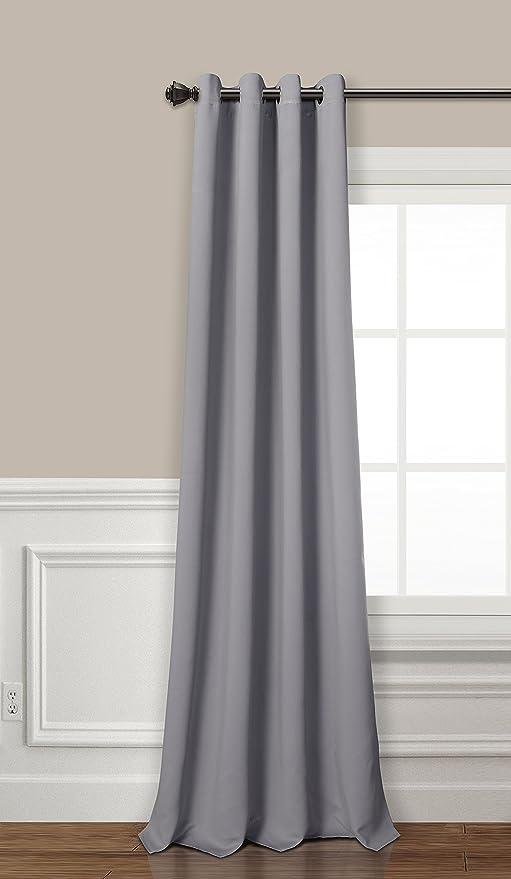 PimpamTex cortina opaca térmica aislante blackout para salón, dormitorio y habitación, con 8 ojales