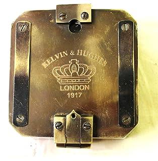 Reloj de pulsera con brújula de latón macizo náutico antiguo con correa de piel. Sin duda sería…