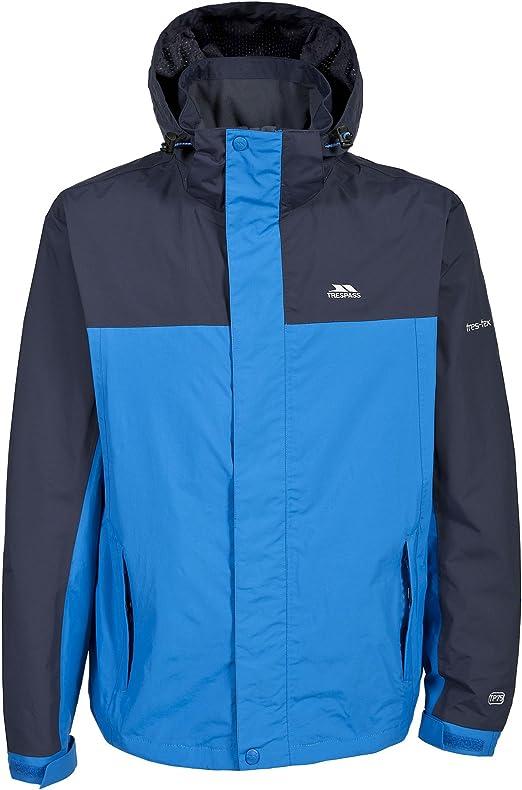 Trespass Phelps Mens Lightweight Waterproof Jacket Rain Coat with Hood