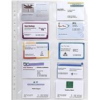 Exacompta 55046E - Bolsa de 10 fundas con multitaladros para tarjetas de visita, A4