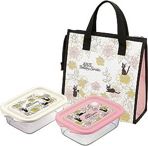 Studio Ghibli Bento Box - Kiki's Delivery Service - JIJI Elegance - Set of 16oz Japanese Lunch Box (2pieces Bento, Non-Woven Fabric Bag)