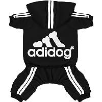 Scheppend Original Adidog Pet Clothes for Dog Cat Puppy Hoodies Coat Winter Sweatshirt…