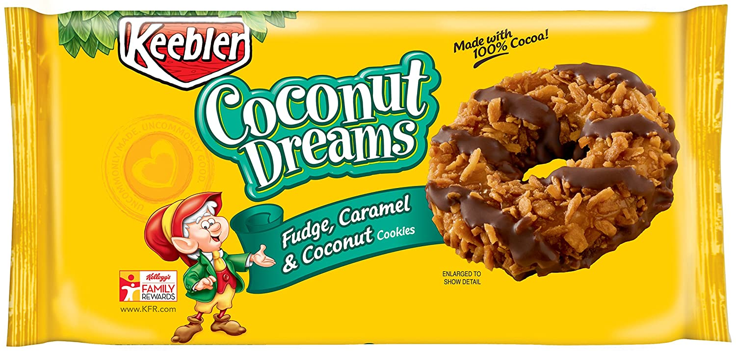 Keebler, Fudge Shoppe Coconut Dreams Cookies, 8.5 oz