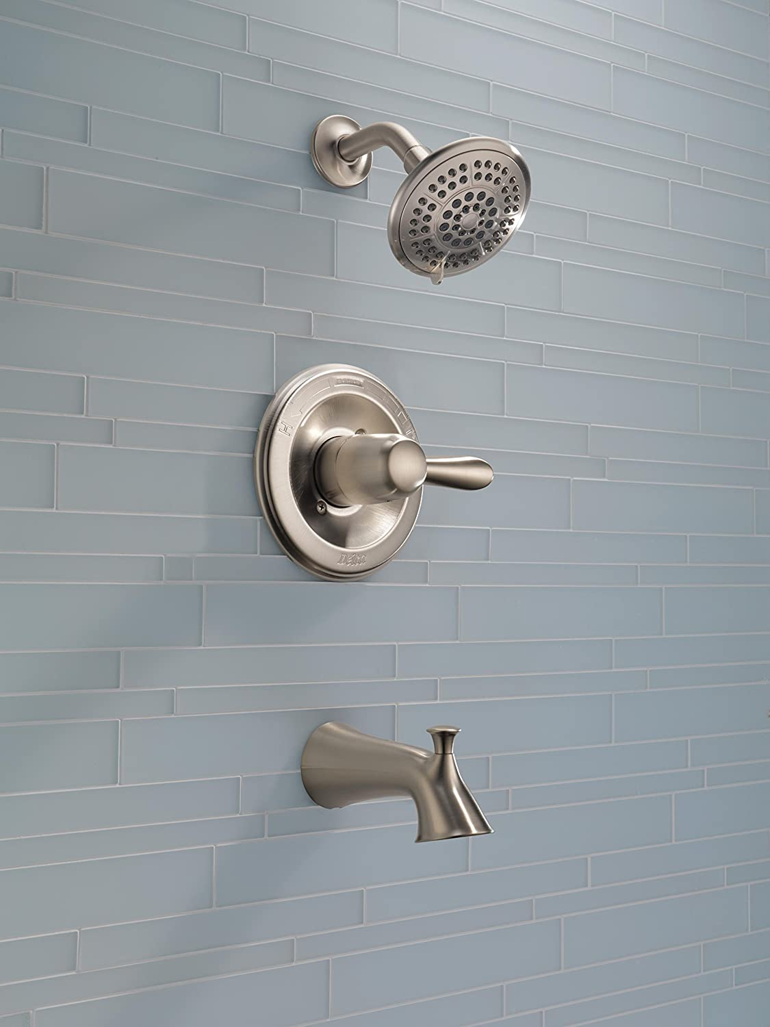 Delta T14438-SS Lahara 14 Series Single-Function Tub and Shower Trim ...