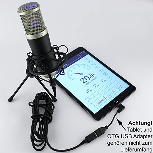 MCU-02 USB Mikrofon Studio Rap Gesang Podcast Win XP VISTA 7 8 10 MAC Android
