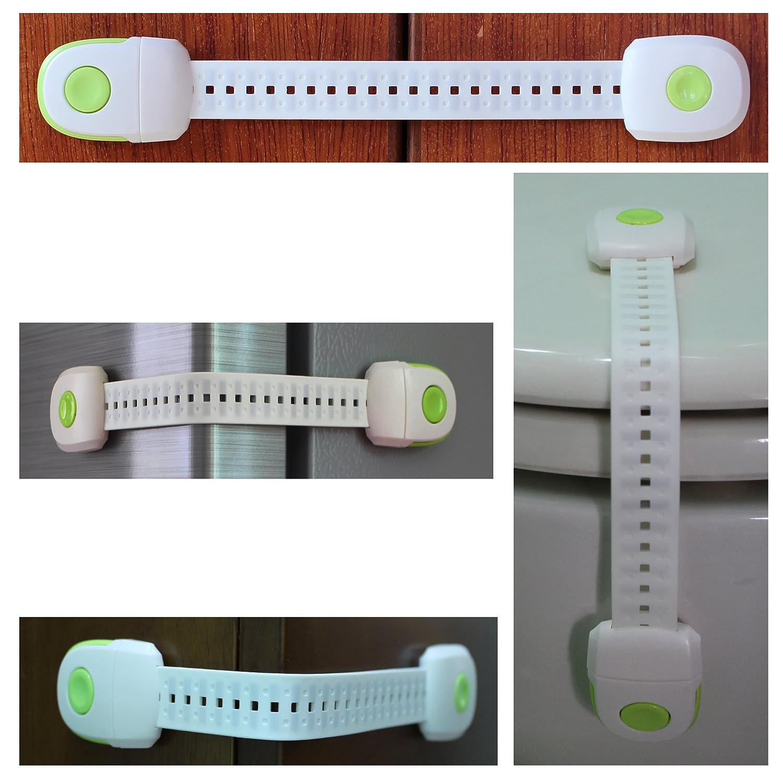 Schubladen und etc. ABS Kind Sicherheit Schl/össer Einweg Schalter Baby Sicherheit Locks 3/m selbstklebend einfach zu installieren Sch/ützen Ihr Baby verwendet f/ür WC-Sitz Ofen K/üche K/ühlschrank