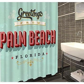 Duschvorhang Textil duschvorhang textil polyester 180x200 cm palm florida us