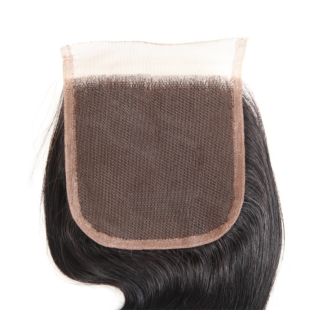 Brazilian Body Wave Closure Unprocessed Human Hair Lace Closure (4X4) Natural Black Color 10Inch by Grand Nature (Image #6)