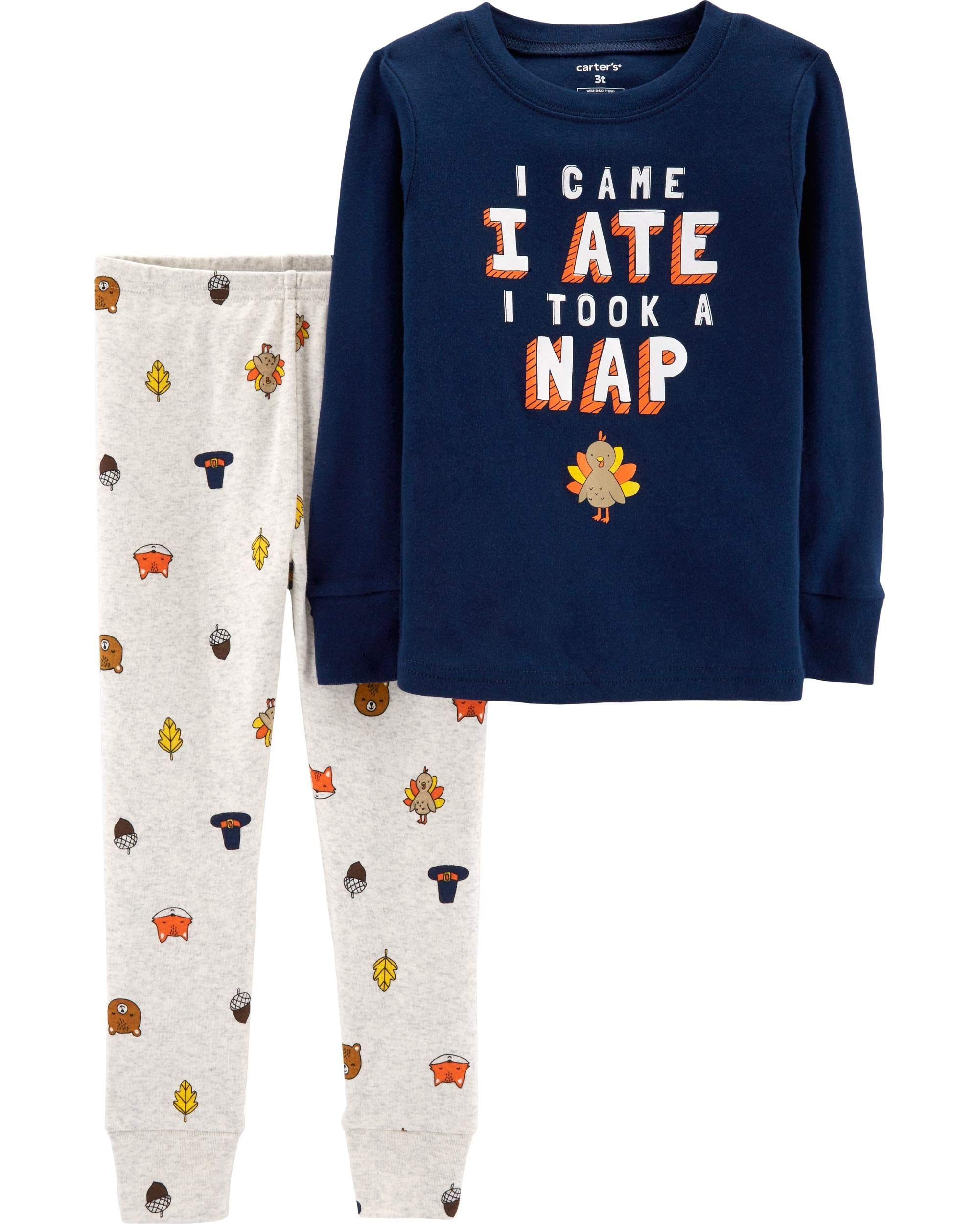 Carter's 2-Piece Snug Fit Cotton Thanksgiving PJs
